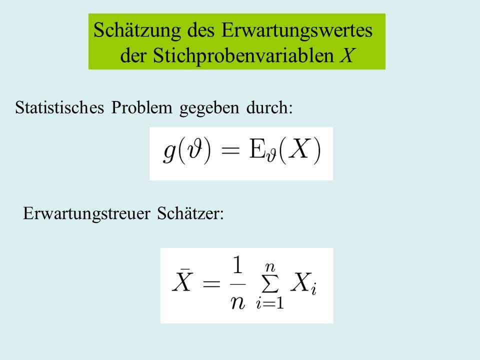 Schätzung des Erwartungswertes der Stichprobenvariablen X