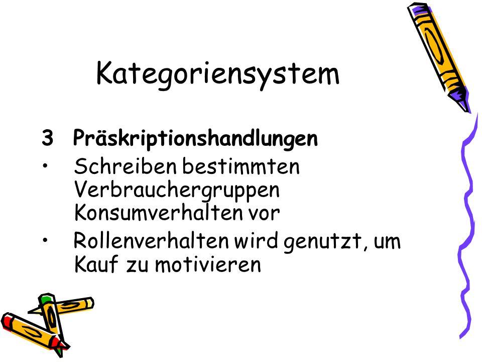 Kategoriensystem 3 Präskriptionshandlungen
