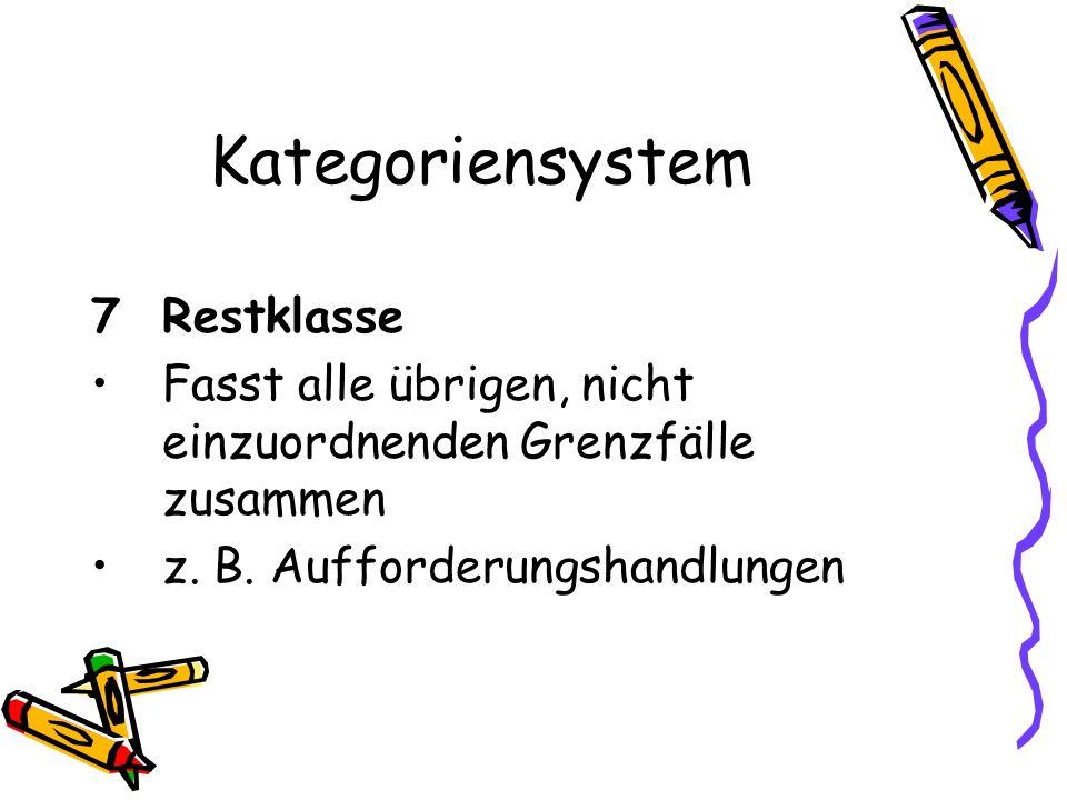 Kategoriensystem 7 Restklasse