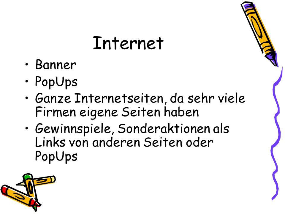 Internet Banner PopUps