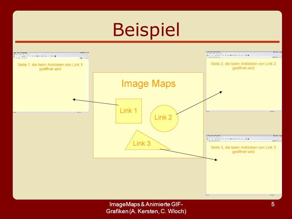 ImageMaps & Animierte GIF-Grafiken (A. Kersten, C. Wloch)