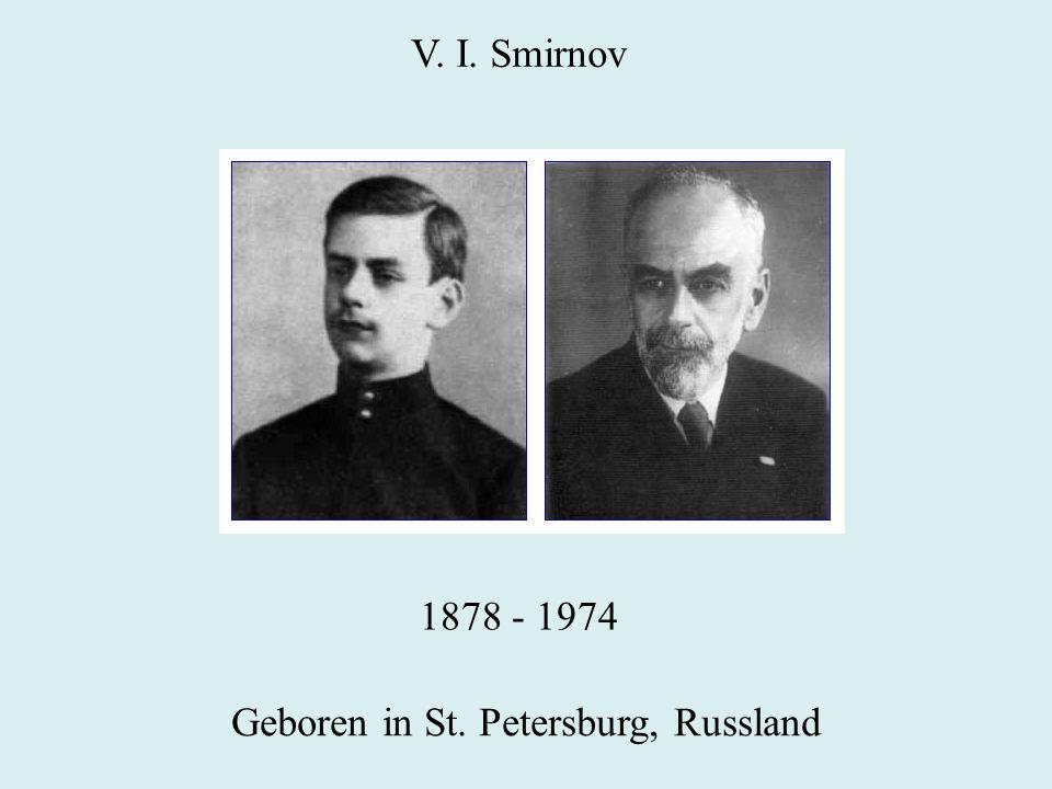 Geboren in St. Petersburg, Russland