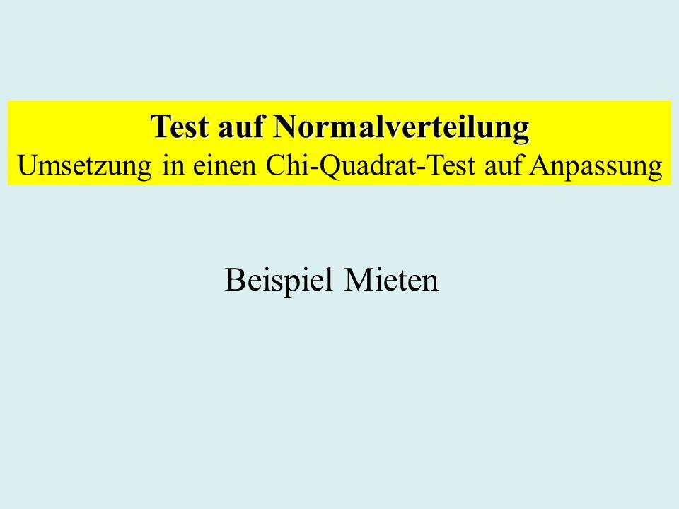 Test auf Normalverteilung