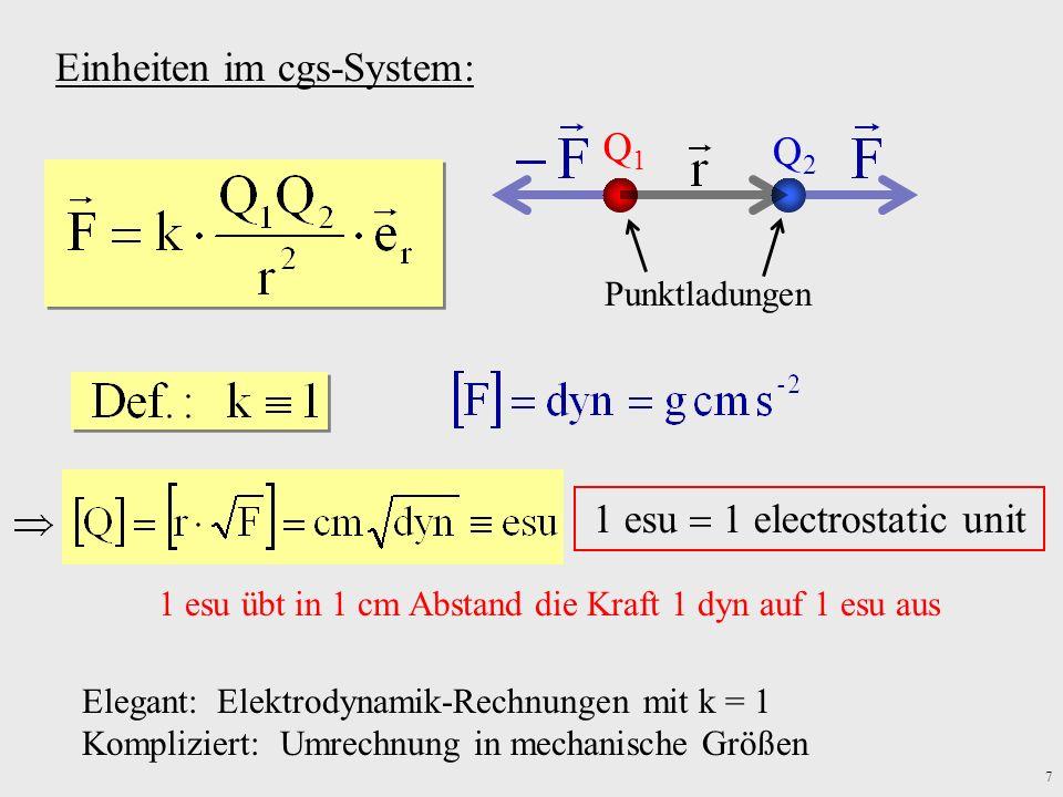 Einheiten im cgs-System:
