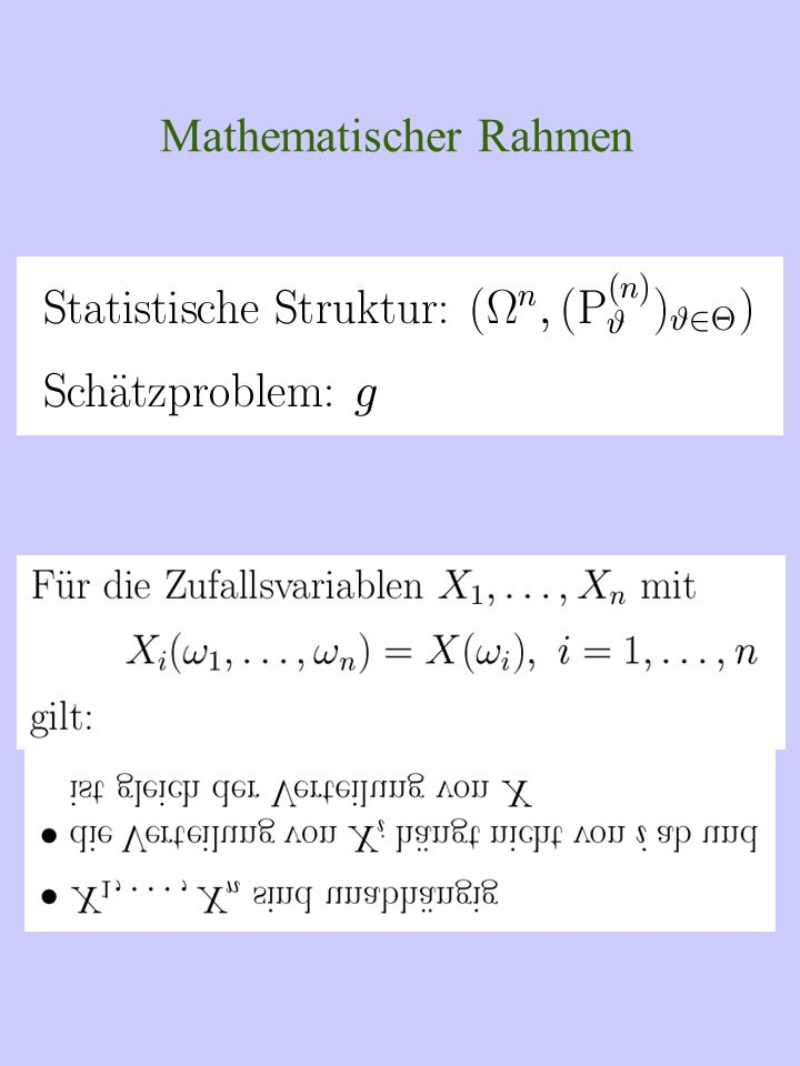 Mathematischer Rahmen