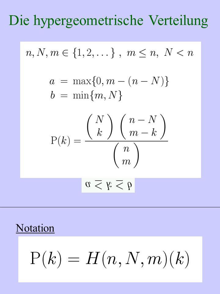 Die hypergeometrische Verteilung