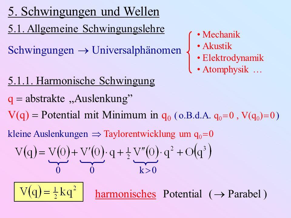 5. Schwingungen und Wellen