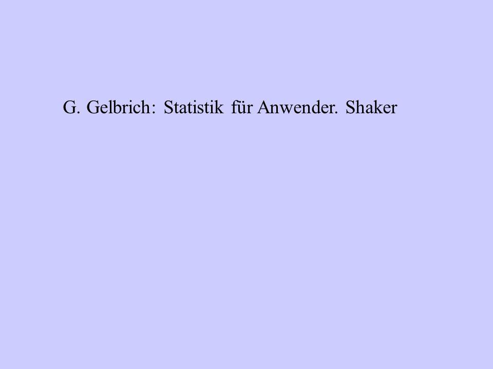 G. Gelbrich: Statistik für Anwender. Shaker