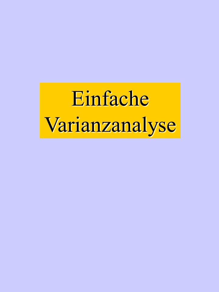 Einfache Varianzanalyse