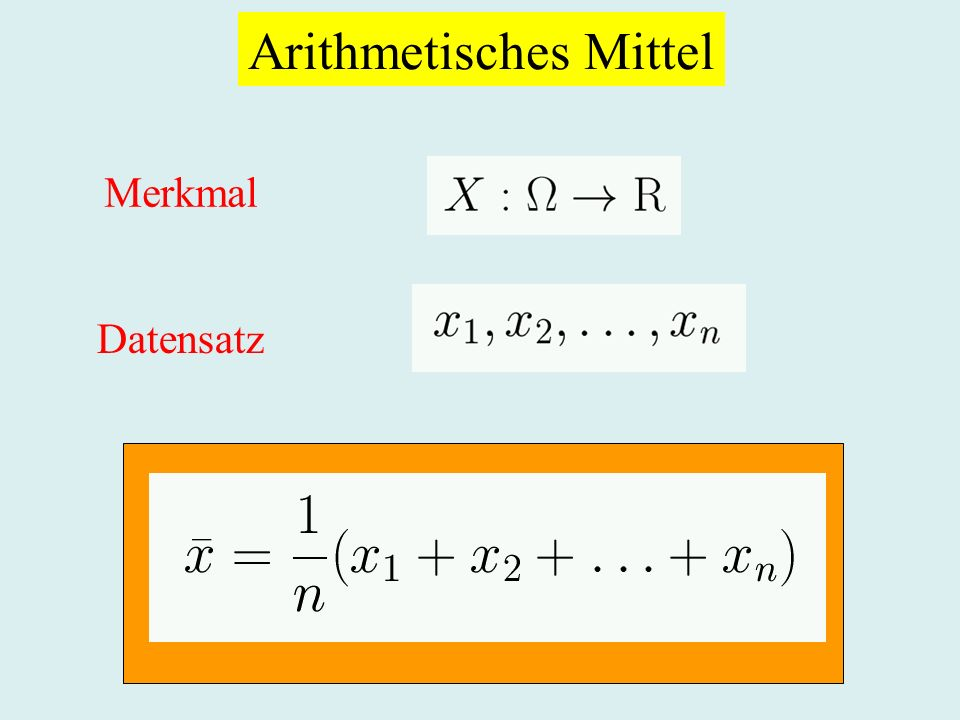 Arithmetisches Mittel