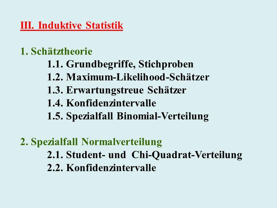 III. Induktive Statistik