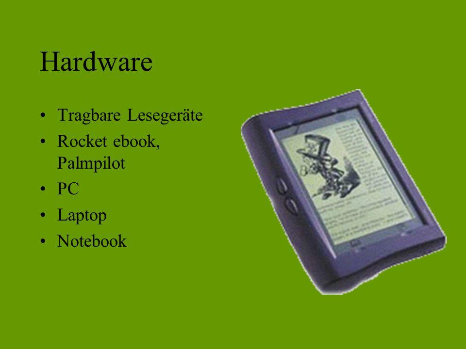 Hardware Tragbare Lesegeräte Rocket ebook, Palmpilot PC Laptop