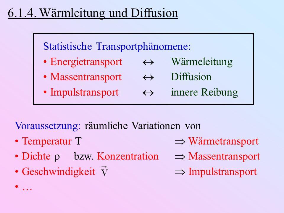 6.1.4. Wärmleitung und Diffusion