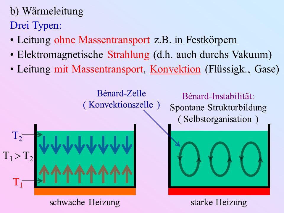 Leitung ohne Massentransport z.B. in Festkörpern