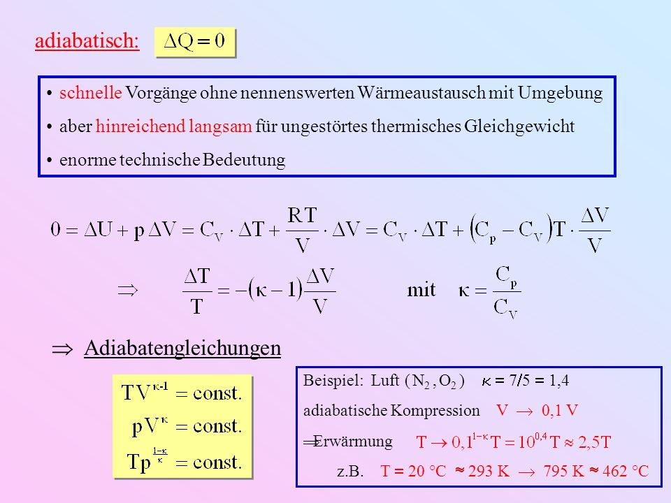  Adiabatengleichungen
