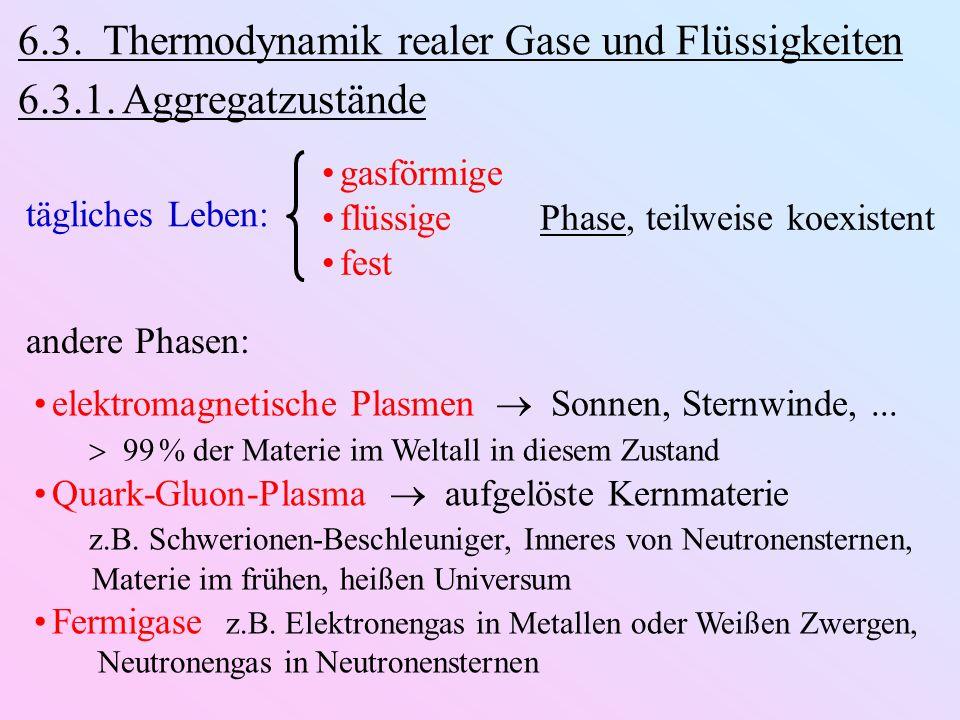 6.3. Thermodynamik realer Gase und Flüssigkeiten