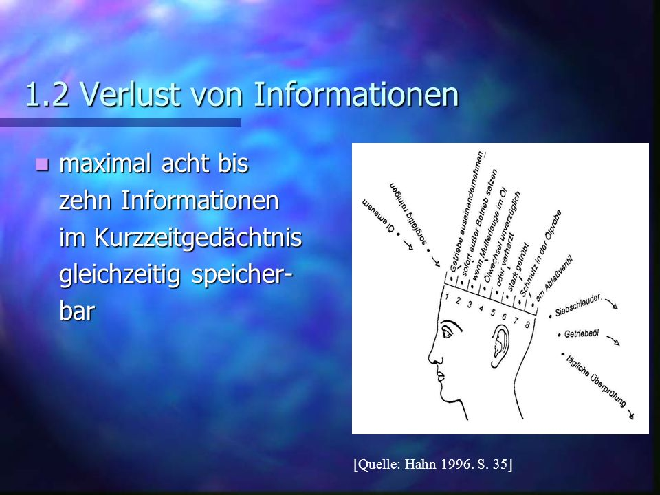 1.2 Verlust von Informationen