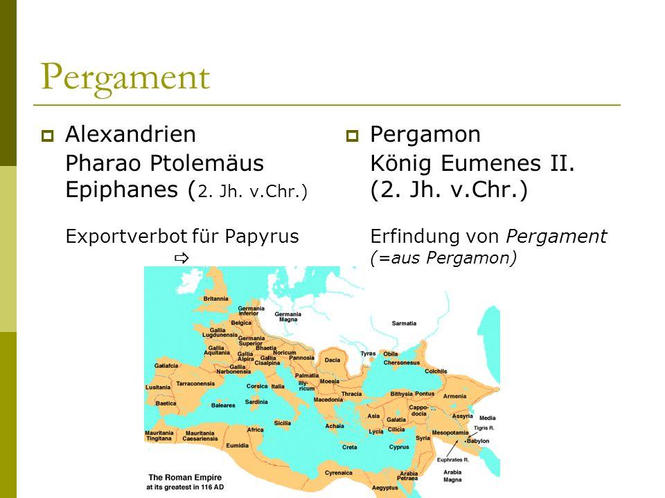 Pergament Alexandrien Pharao Ptolemäus Epiphanes (2. Jh. v.Chr.)