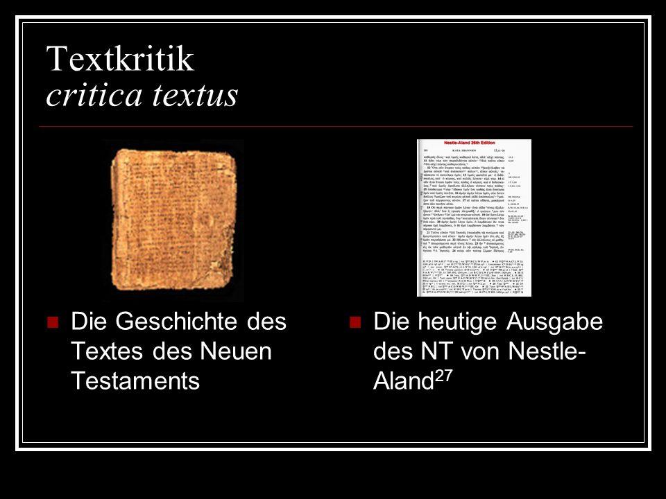 Textkritik critica textus
