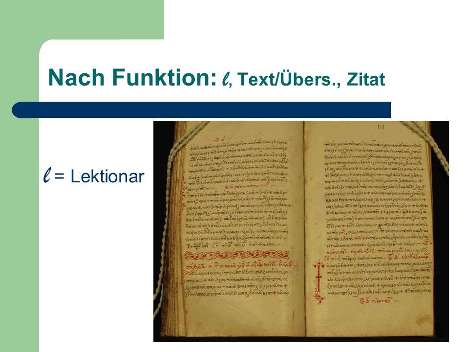 Nach Funktion: l, Text/Übers., Zitat