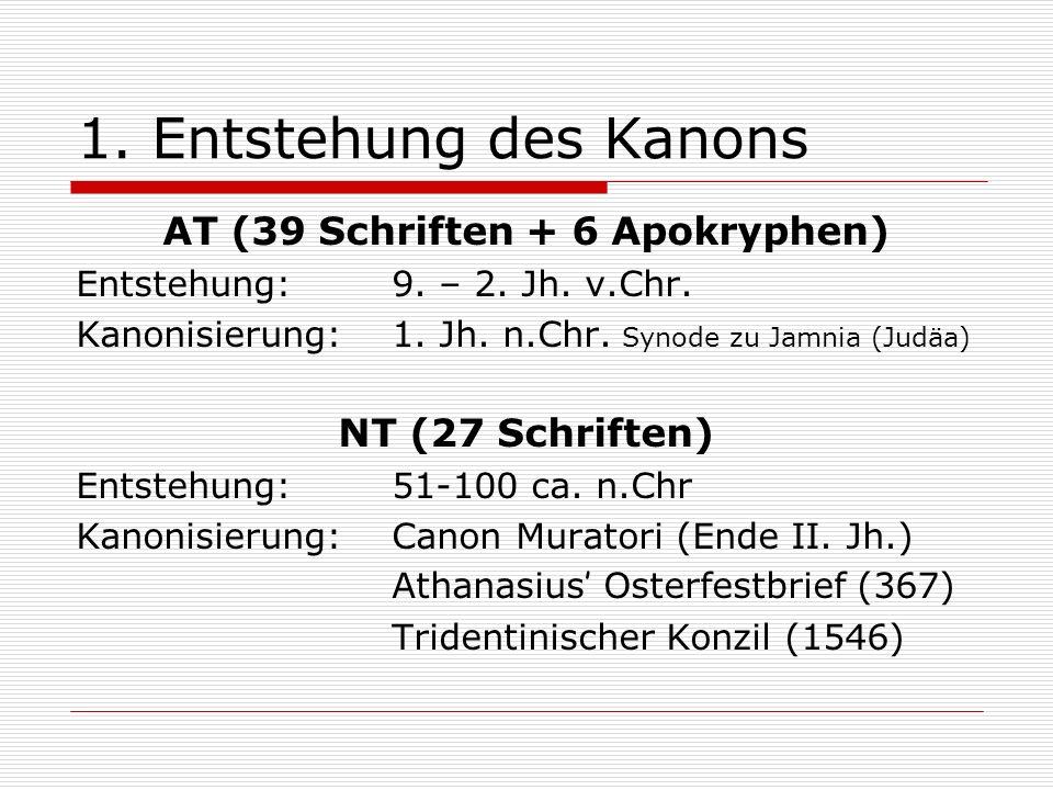 AT (39 Schriften + 6 Apokryphen)