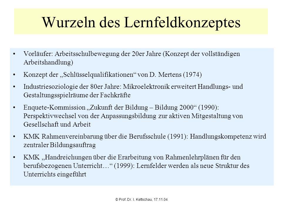 Wurzeln des Lernfeldkonzeptes