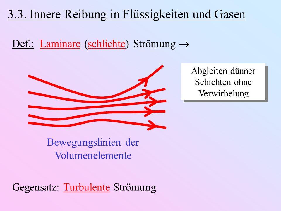 3.3. Innere Reibung in Flüssigkeiten und Gasen