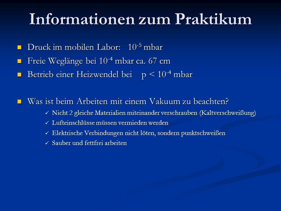 Informationen zum Praktikum
