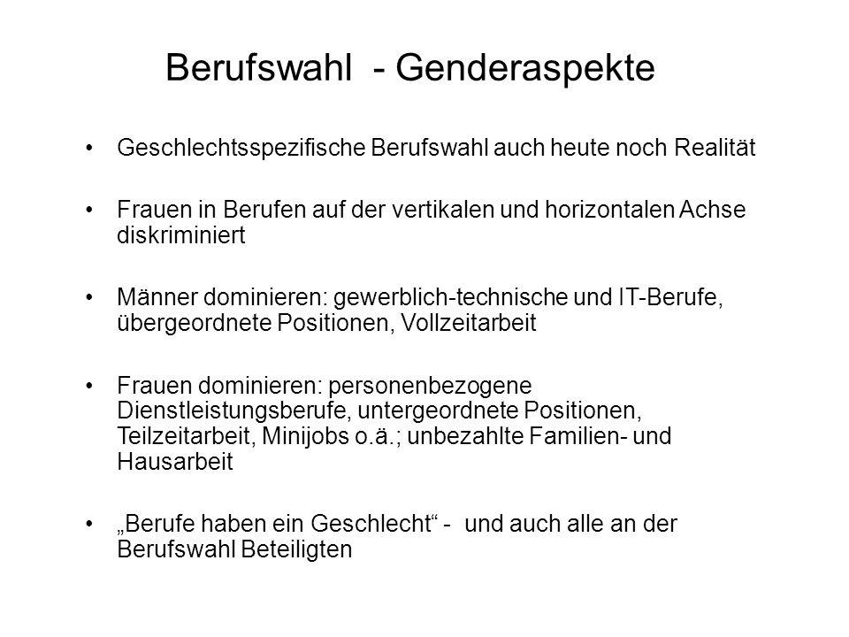 Berufswahl - Genderaspekte