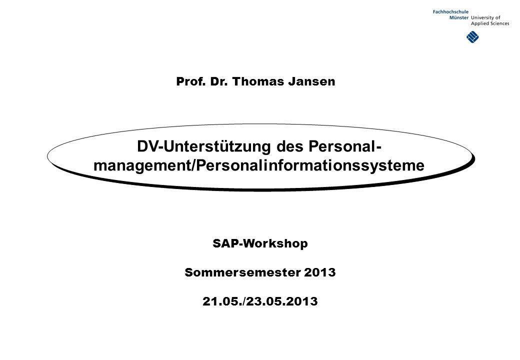 DV-Unterstützung des Personal-management/Personalinformationssysteme