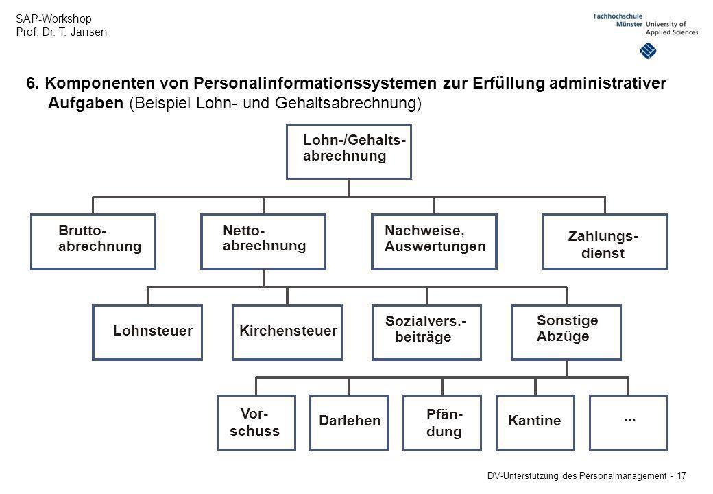 Aufgaben (Beispiel Lohn- und Gehaltsabrechnung)