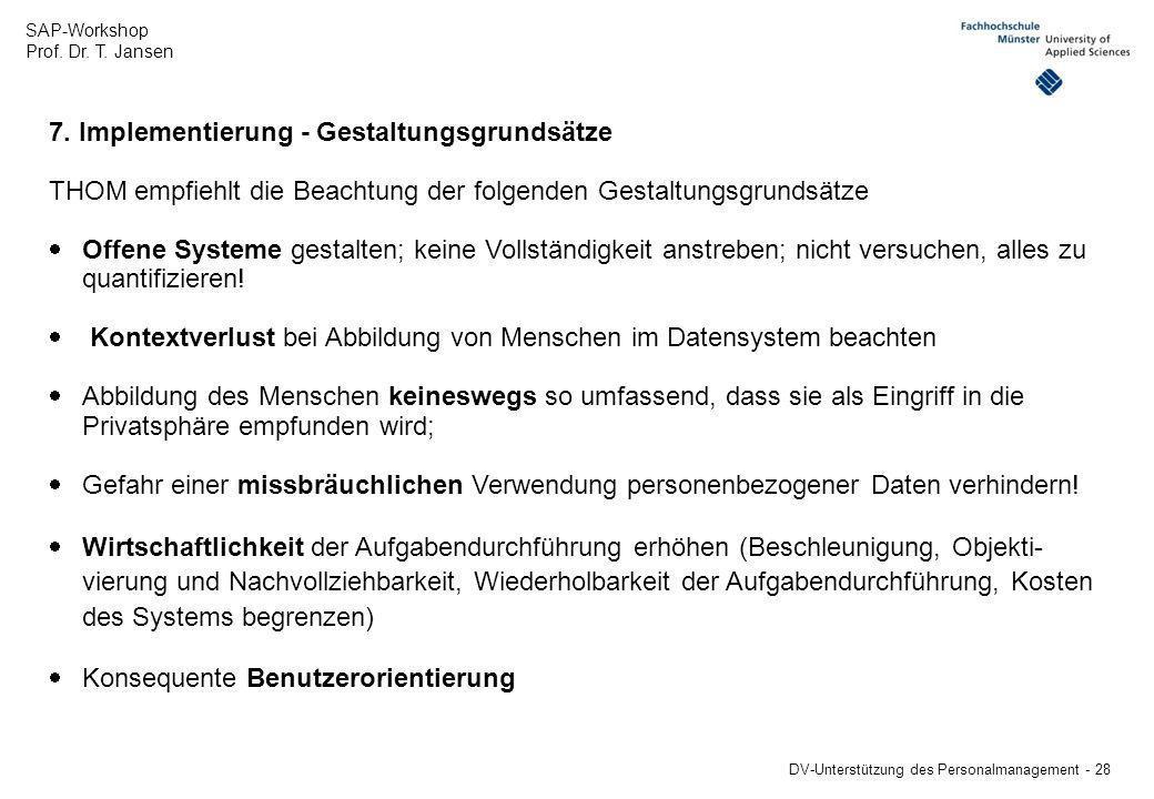 7. Implementierung - Gestaltungsgrundsätze