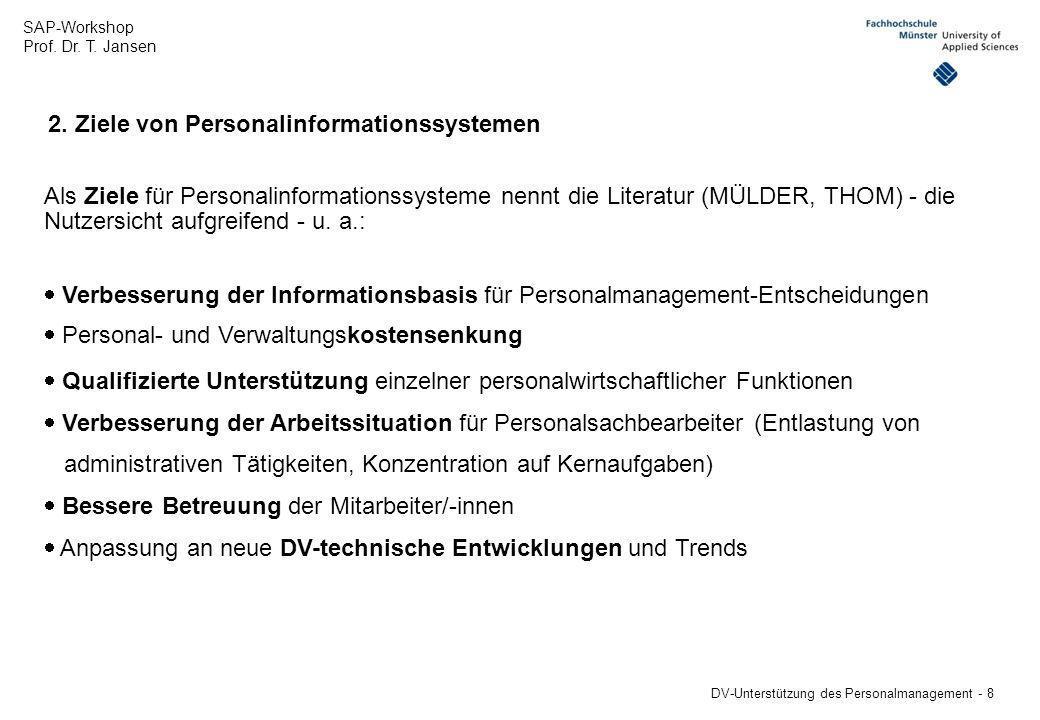 2. Ziele von Personalinformationssystemen