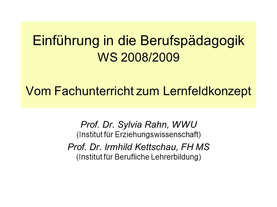 Prof. Dr. Sylvia Rahn, WWU (Institut für Erziehungswissenschaft)
