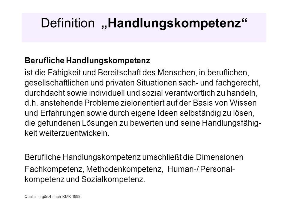 """Definition """"Handlungskompetenz"""