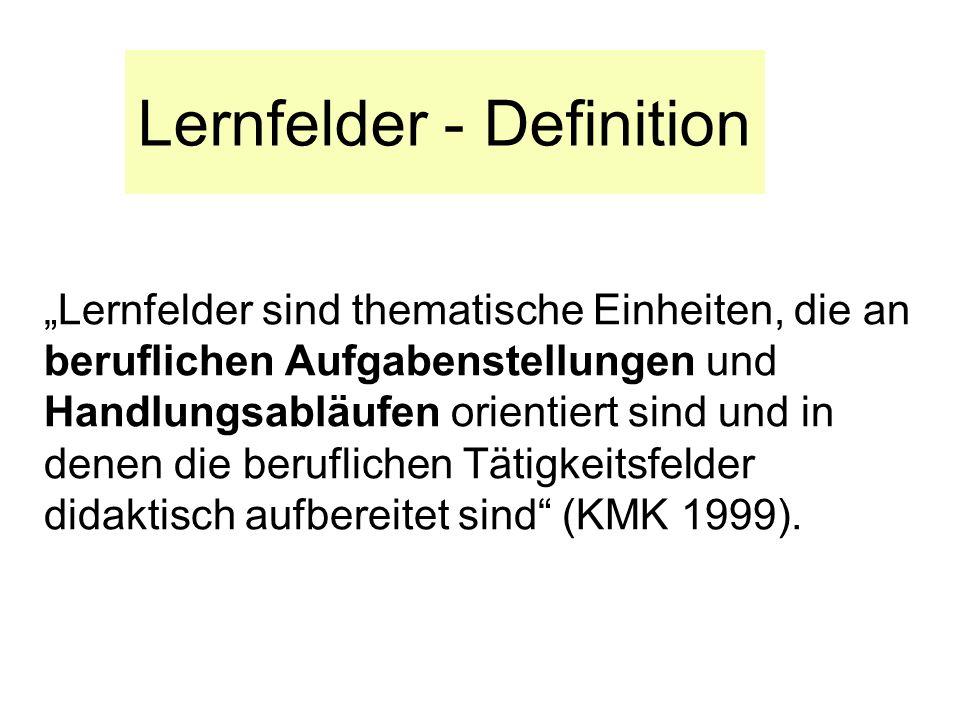 Lernfelder - Definition