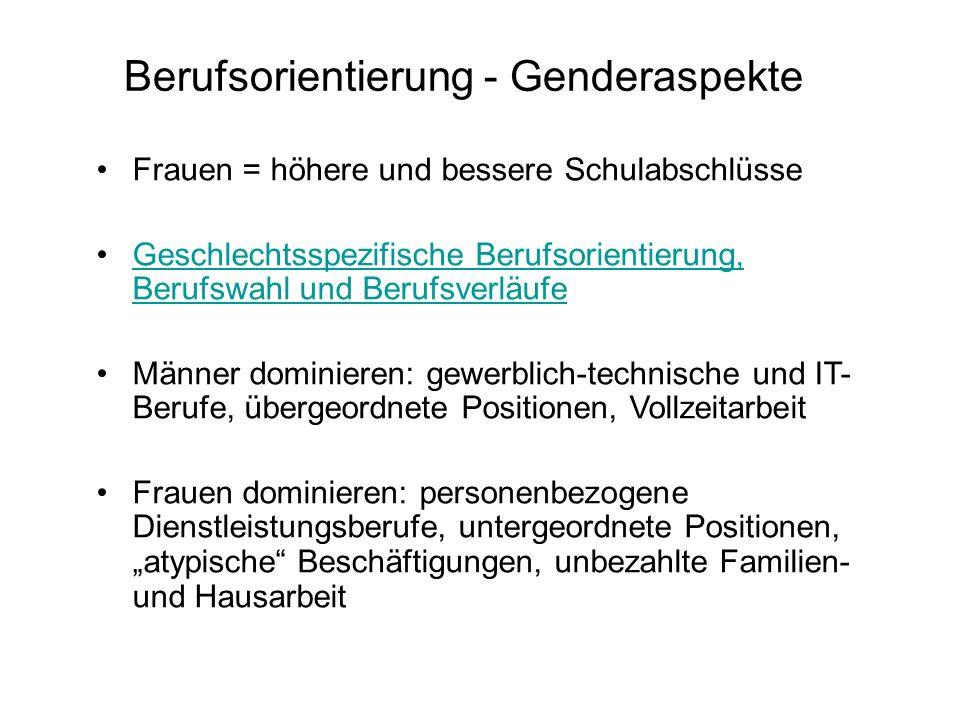 Berufsorientierung - Genderaspekte