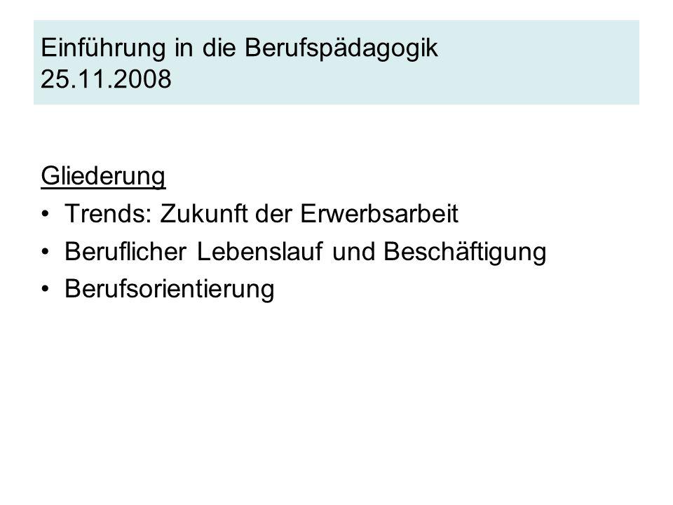 Einführung in die Berufspädagogik 25.11.2008
