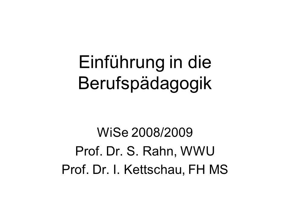 Einführung in die Berufspädagogik