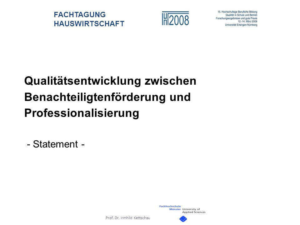 Qualitätsentwicklung zwischen Benachteiligtenförderung und Professionalisierung