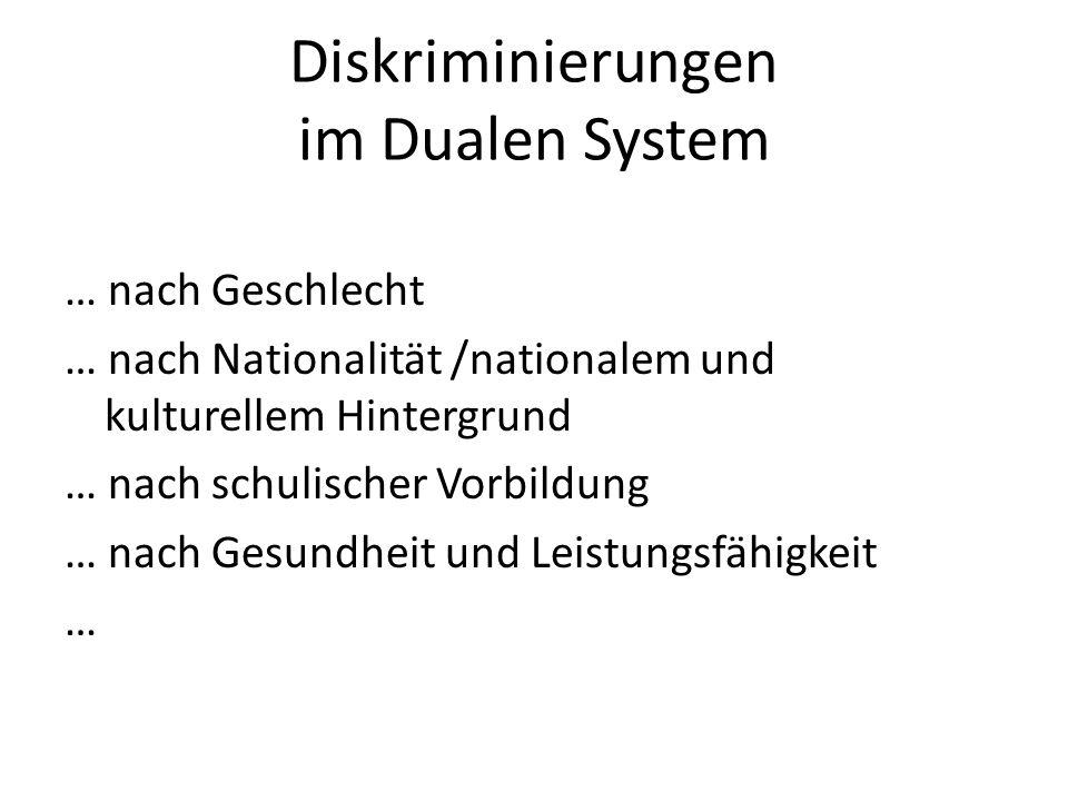 Diskriminierungen im Dualen System