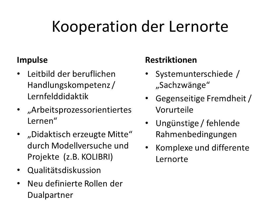 Kooperation der Lernorte