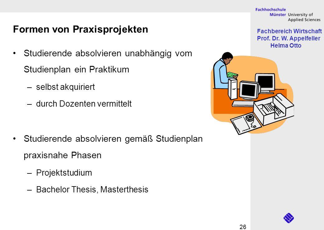 Formen von Praxisprojekten