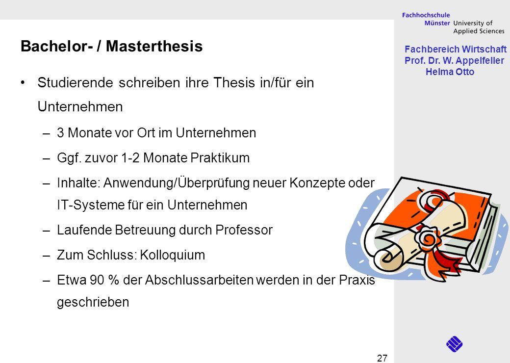 Bachelor- / Masterthesis