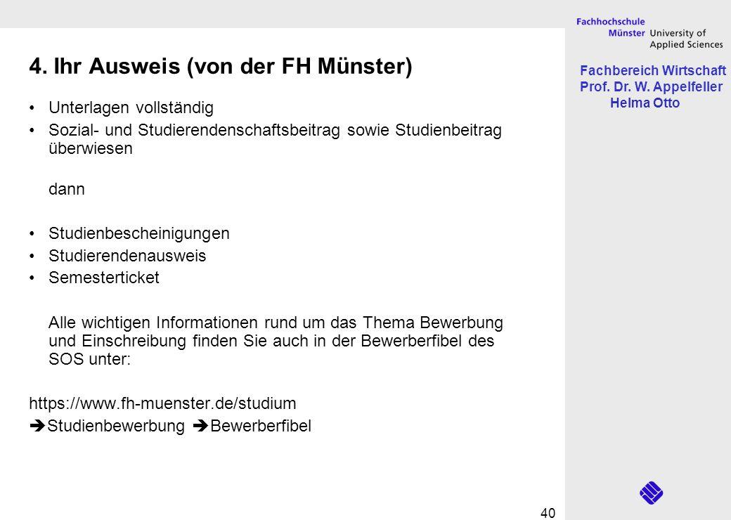 4. Ihr Ausweis (von der FH Münster)