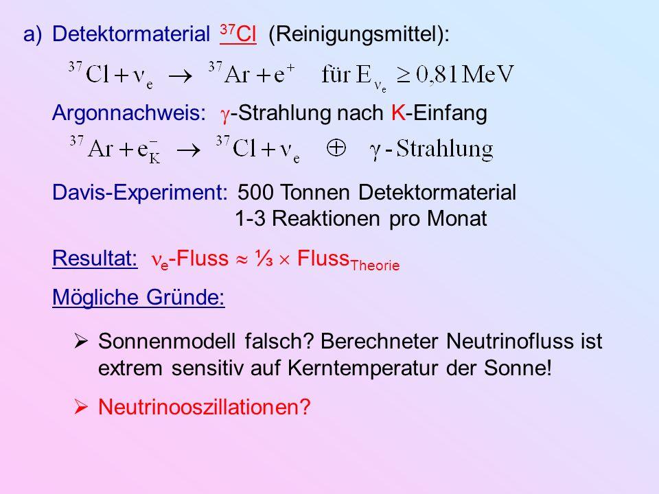 Detektormaterial 37Cl (Reinigungsmittel):