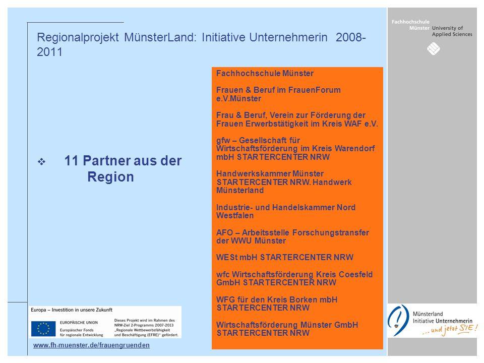 Regionalprojekt MünsterLand: Initiative Unternehmerin 2008-2011