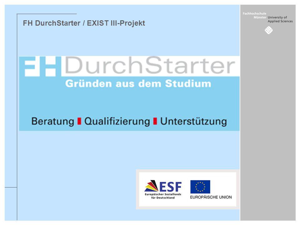 FH DurchStarter / EXIST III-Projekt