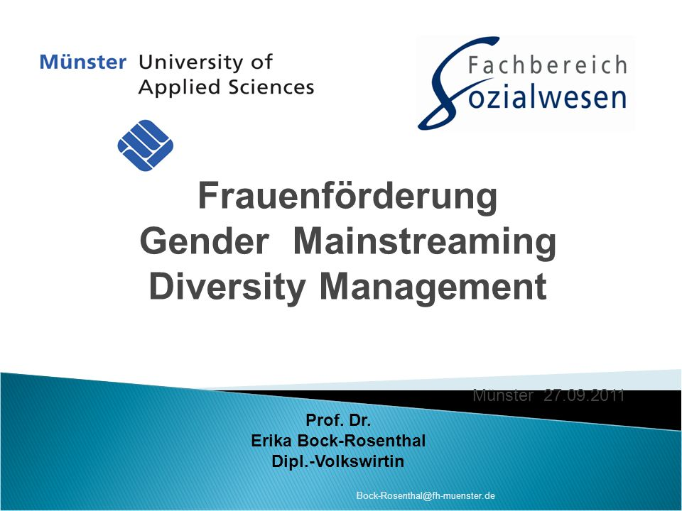 Frauenförderung Gender Mainstreaming Diversity Management