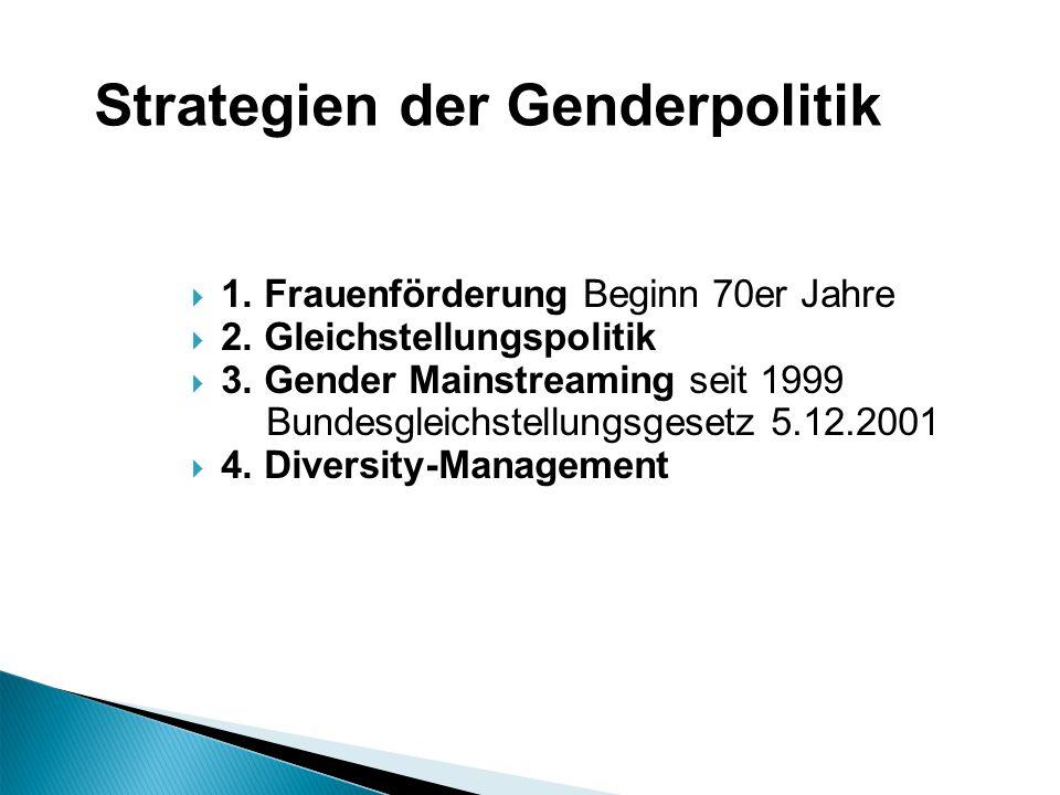 Strategien der Genderpolitik